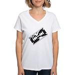 Razor Blade Women's V-Neck T-Shirt