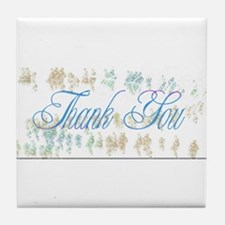 Thank You Bubbles Tile Coaster