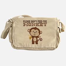Please Dont Feed Monkey Messenger Bag