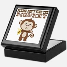 Please Dont Feed Monkey Keepsake Box