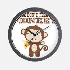 Please Dont Feed Monkey Wall Clock