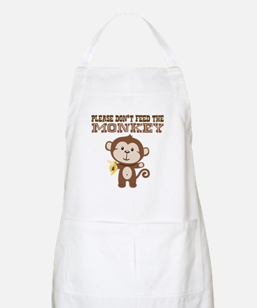 Please Dont Feed Monkey Apron