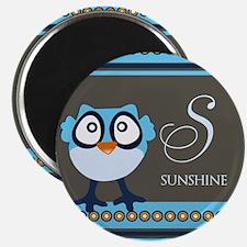 Custom Name Blue Owl Magnet