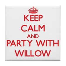 Keep Calm and Party with Willow Tile Coaster