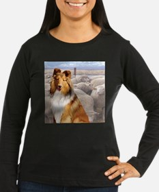 Shelty with Sheep Long Sleeve T-Shirt