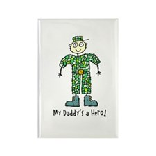 My Daddy's a Hero Rectangle Magnet (100 pack)