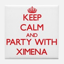 Keep Calm and Party with Ximena Tile Coaster