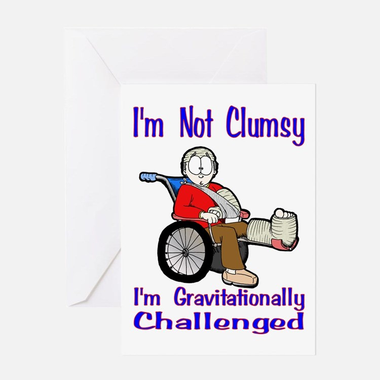 Im Not Clumsy Greeting Cards