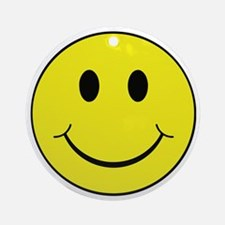 Smiley Face Round Ornament