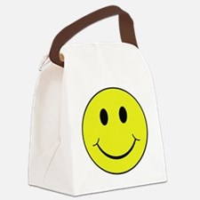 Smiley Face Canvas Lunch Bag
