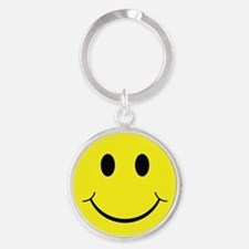 Smiley Face Round Keychain