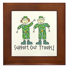 Support Our Troops Framed Tile