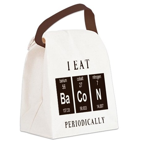 I Eat Bacon Periodically Canvas Lunch Bag