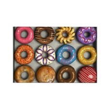 Box of Doughnuts Rectangle Magnet (10 pack)