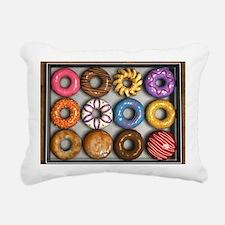 Box of Doughnuts Rectangular Canvas Pillow