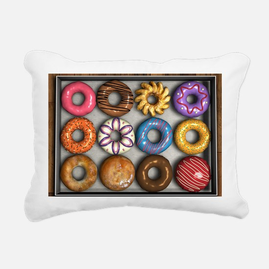 Box of Doughnuts Rectangular Canvas Pillow