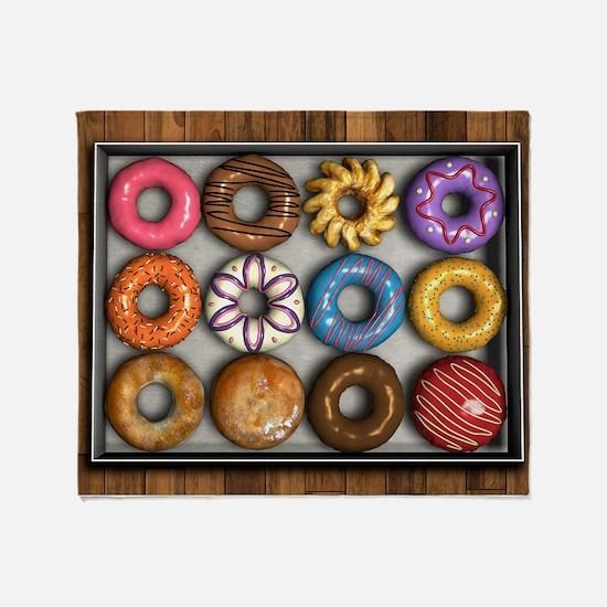 Box of Doughnuts Throw Blanket