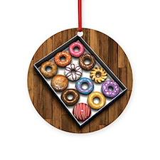 Box of Doughnuts Ornament (Round)