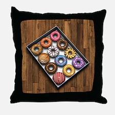 Box of Doughnuts Throw Pillow