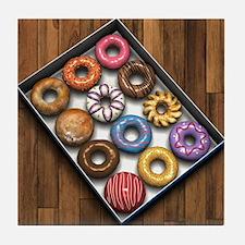 Box of Doughnuts Tile Coaster