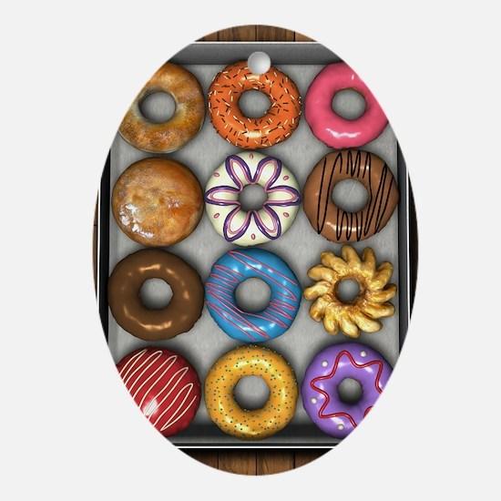Box of Doughnuts Ornament (Oval)