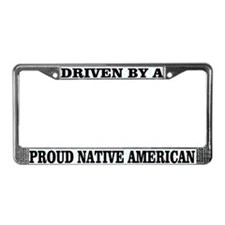 Cute Native americans License Plate Frame