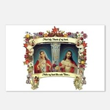 Sacred and Immaculate Hearts Postcards (Package of