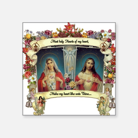 Sacred and Immaculate Hearts Sticker