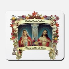 Sacred and Immaculate Hearts Mousepad