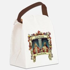 Sacred and Immaculate Hearts Canvas Lunch Bag