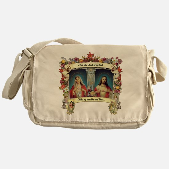 Sacred and Immaculate Hearts Messenger Bag