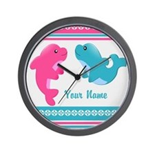 Cute Dolphin - Personalized Wall Clock