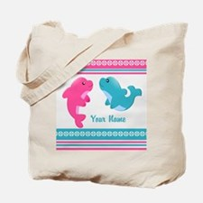 Cute Dolphin - Personalized Tote Bag