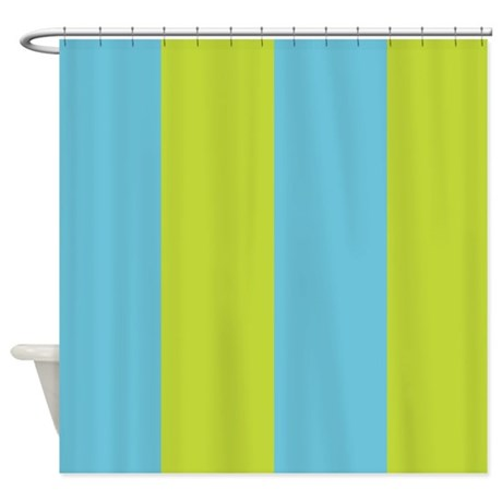 Fun Stripes Blue Green Shower Curtain By Floatinglemons