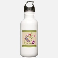 Personalized Elegant Peacock Water Bottle