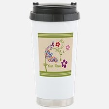 Personalized Elegant Peacock Travel Mug