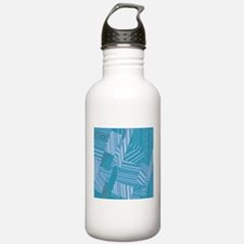 pattern mix, aqua Water Bottle
