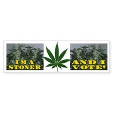 Stoner Vote Bumper Car Sticker