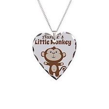 Aunties Little Monkey Necklace Heart Charm