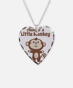 Aunties Little Monkey Necklace Heart Charm