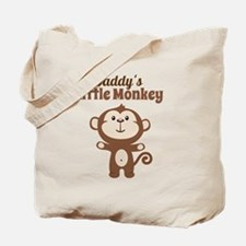 Daddys Little Monkey Tote Bag