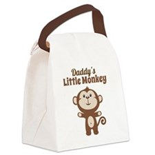 Daddys Little Monkey Canvas Lunch Bag