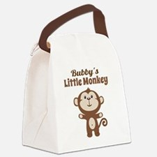 Bubbys Little Monkey Canvas Lunch Bag