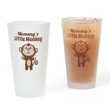 Mommys Little Monkey Drinking Glass