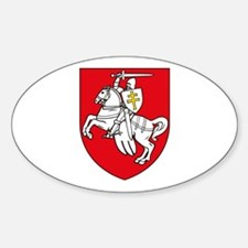 Belarus 1991 Oval Decal
