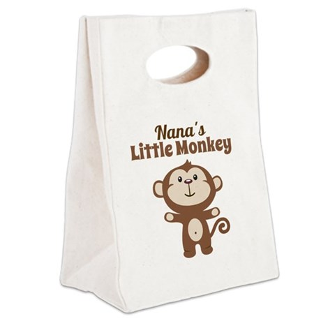 Nanas Little Monkey Canvas Lunch Tote