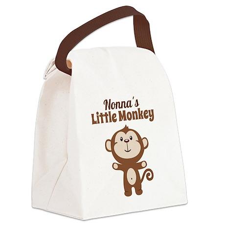 Nonnas Little Monkey Canvas Lunch Bag