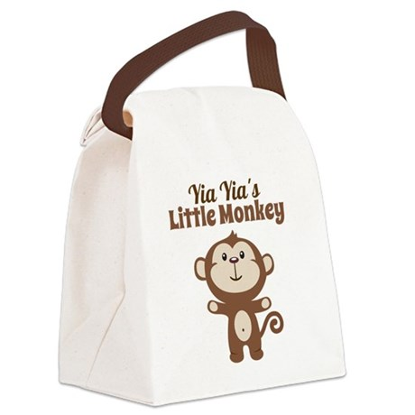 Yia Yias Little Monkey Canvas Lunch Bag