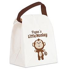 Papas Little Monkey Canvas Lunch Bag