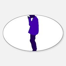 street busker Sticker (Oval)